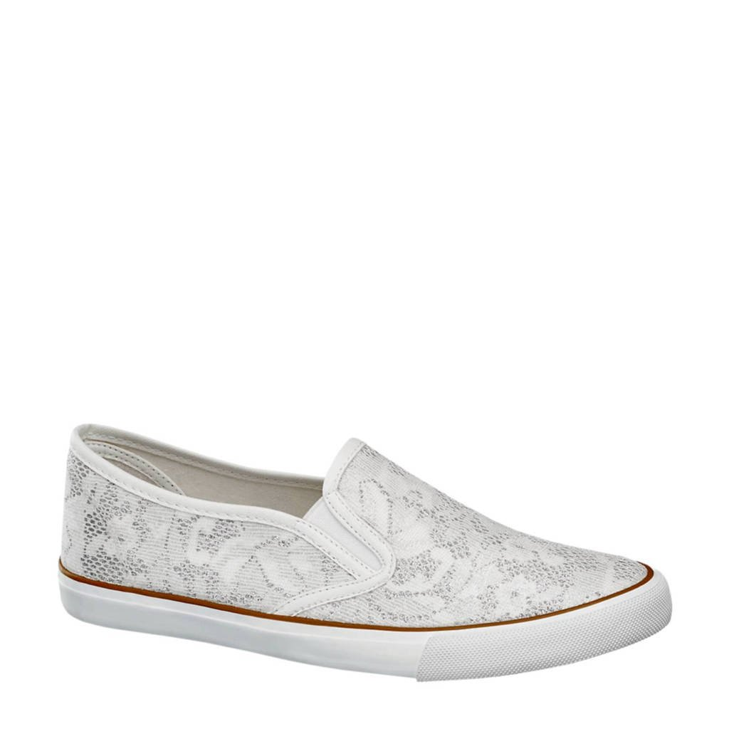 vanHaren Graceland slip on, Wit