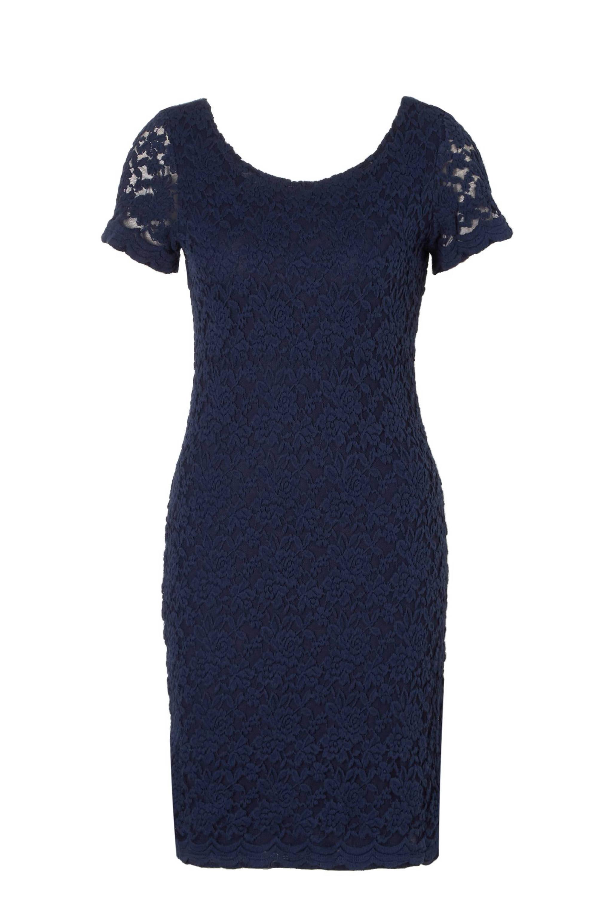 cb1d3dfcd09922 ESPRIT Women Casual kanten jurk met rugdecolleté