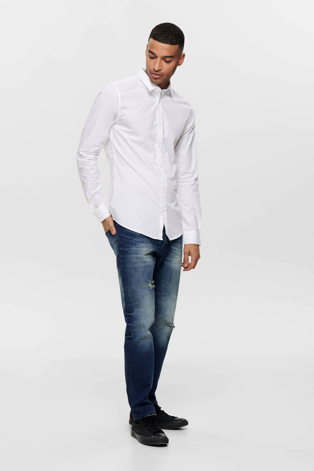 ONLY & SONS Alfredo slim fit overhemd, Wit