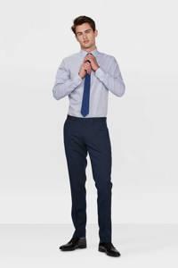 WE Fashion regular fit overhemd, Blauw/wit