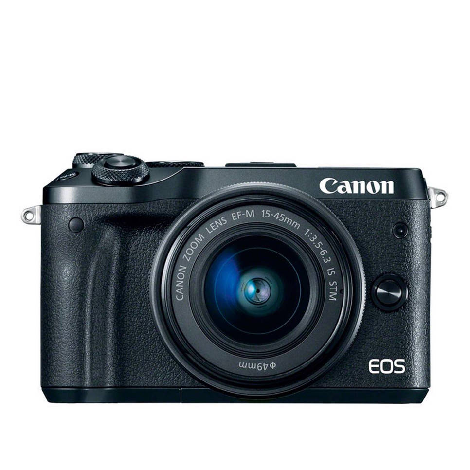 Canon EOS M6 Black M15-45mm IS STM Systeem camera