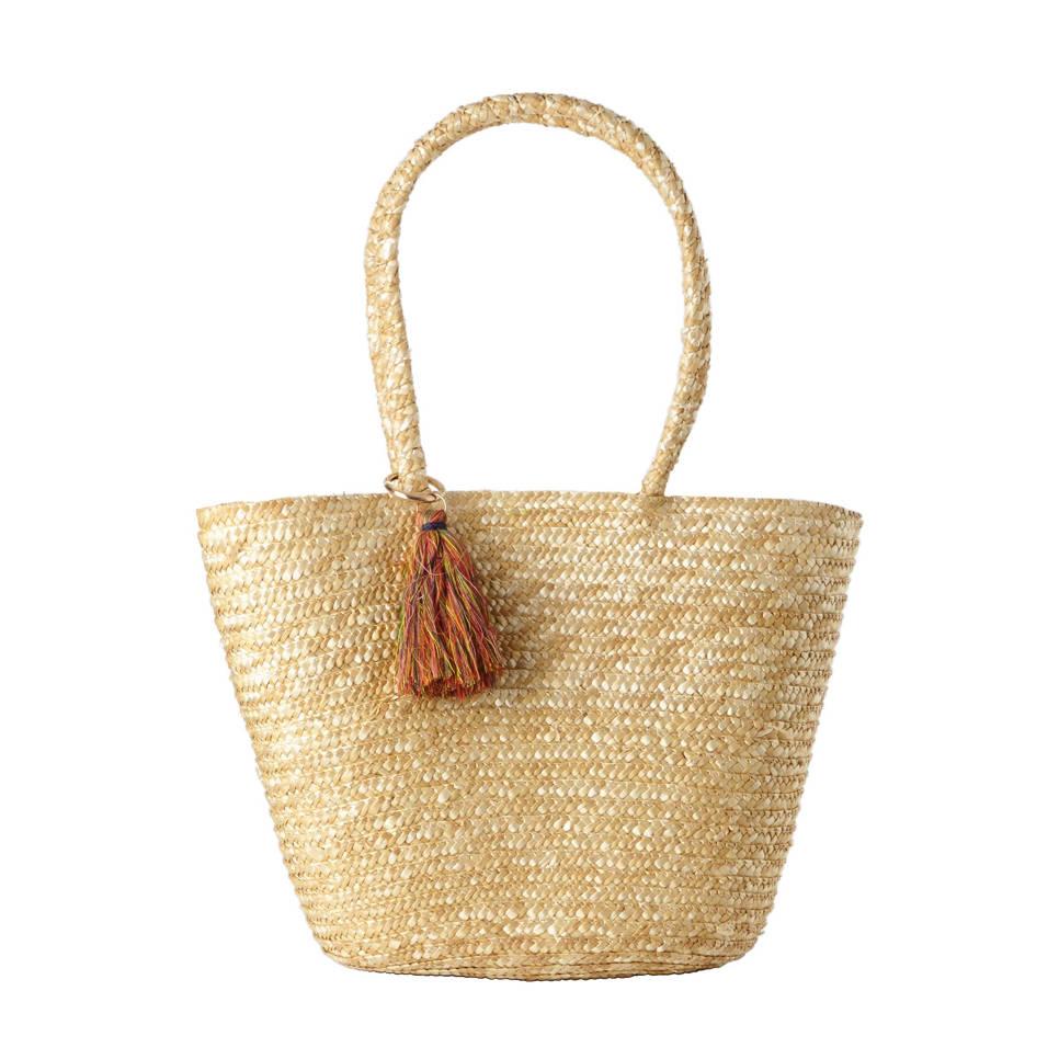 ONLY  handgemaakte strandtas, Zand