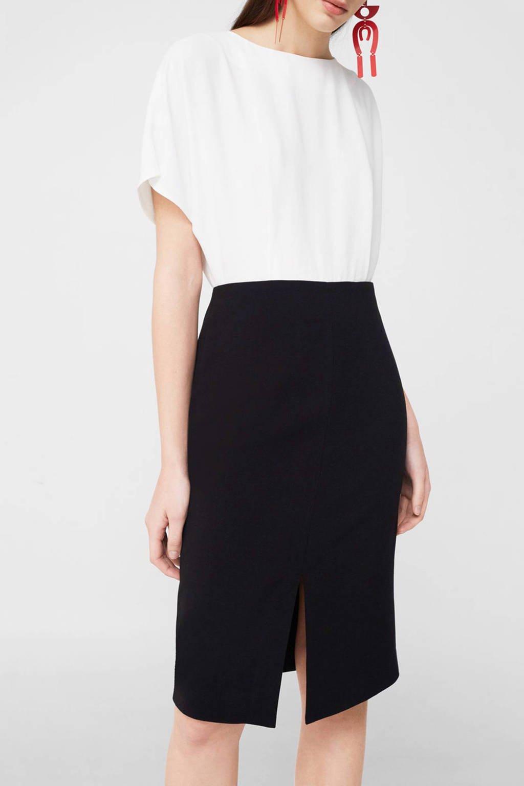 Mango jurk, Naturel wit/zwart
