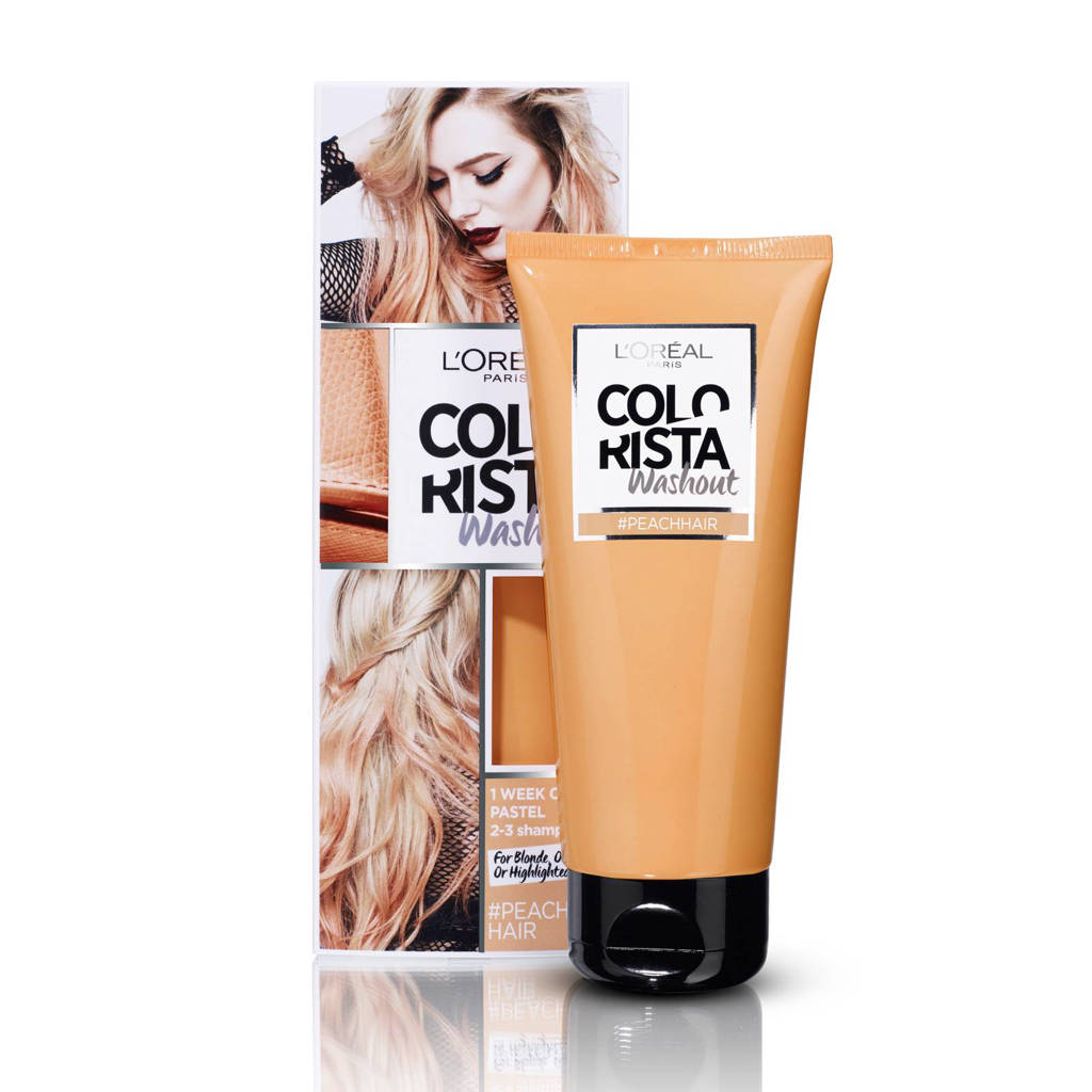 L'Oréal Paris Coloration Colorista Washout 1-2 weken haarkleuring - peach, Peach