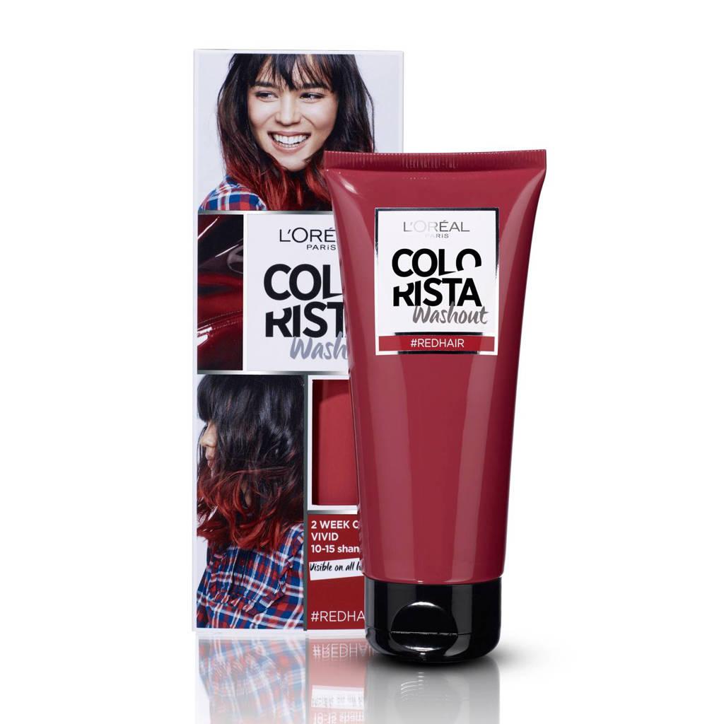 L'Oréal Paris Coloration Colorista Washout 1-2 weken haarkleuring - rood, Rood