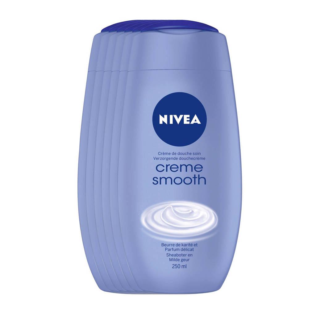 NIVEA Creme Smooth douchecrème - voordeelverpakking - 6x250ml