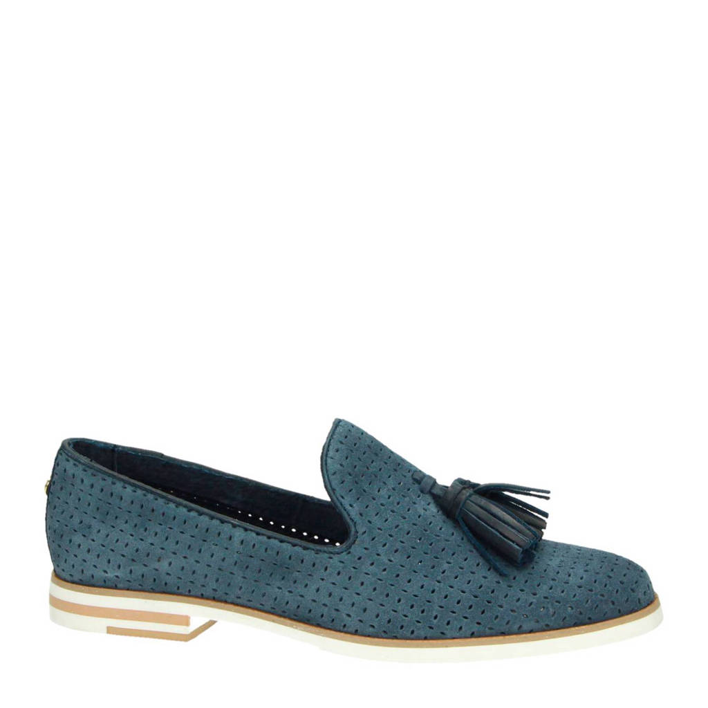 McGregor suède loafers, Turquoise