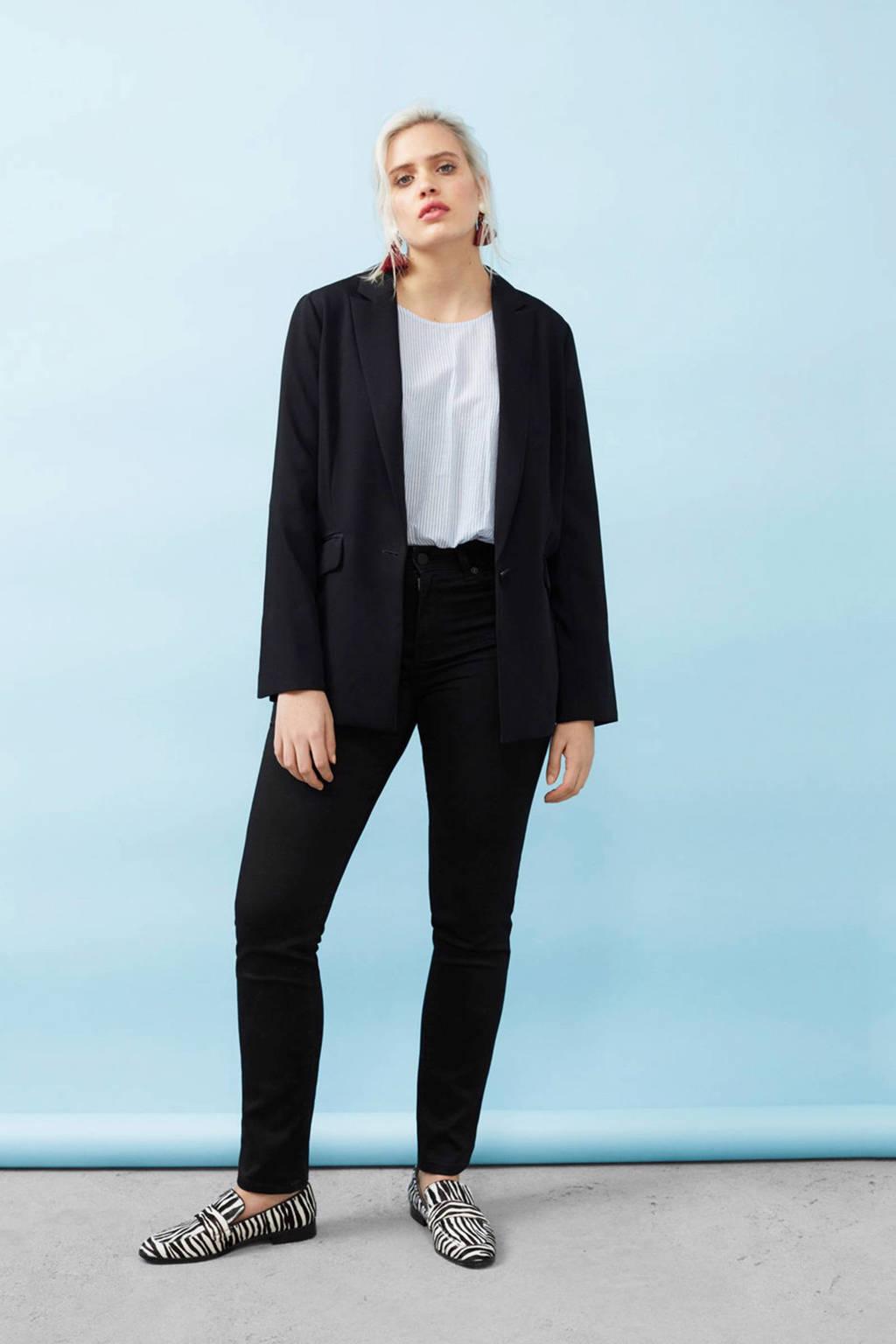 Violeta by Mango slim fit broek, Zwart