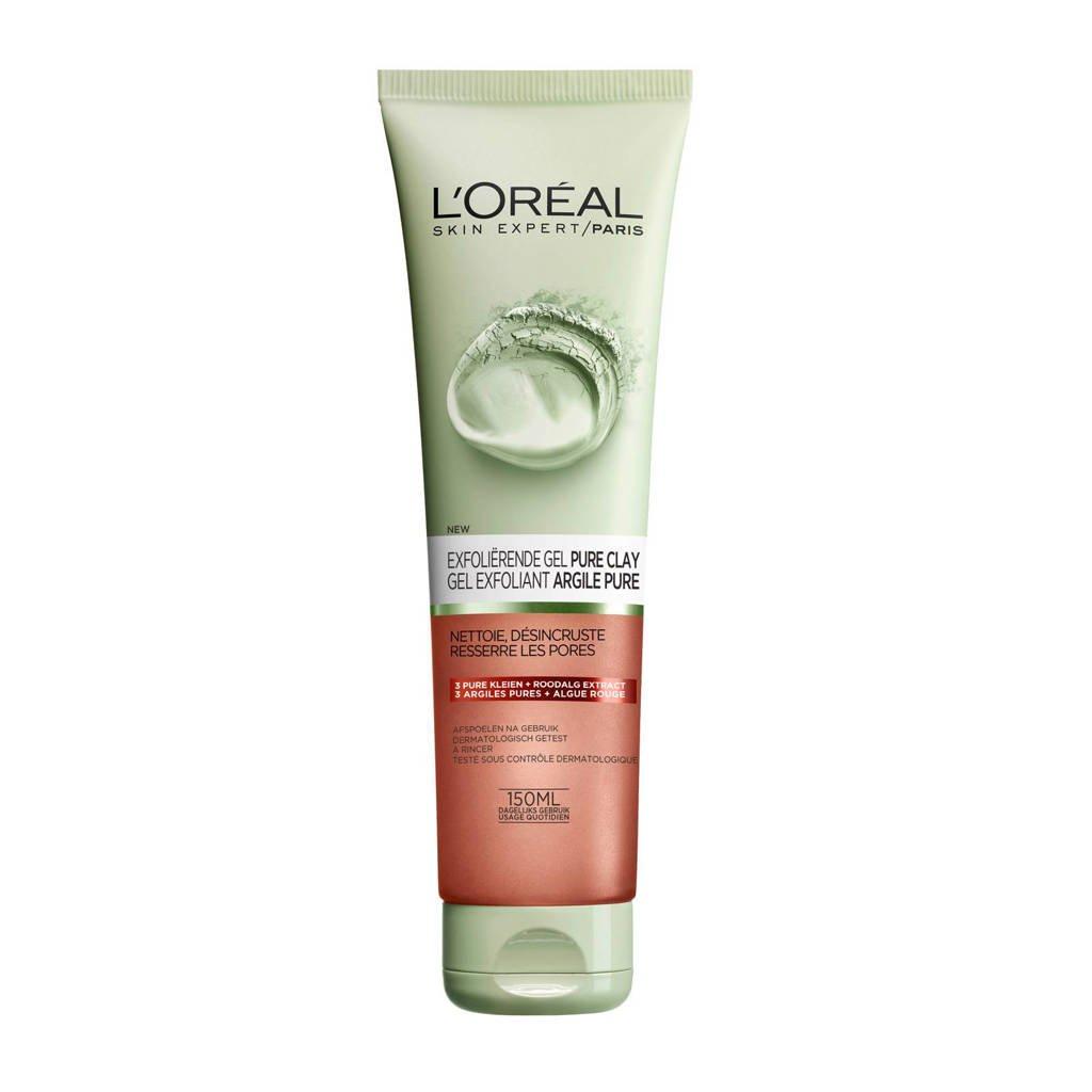 L'Oréal Paris Skin Expert Skin Expert Exfoliërend Pure Clay reinigingsgel - 150 ml