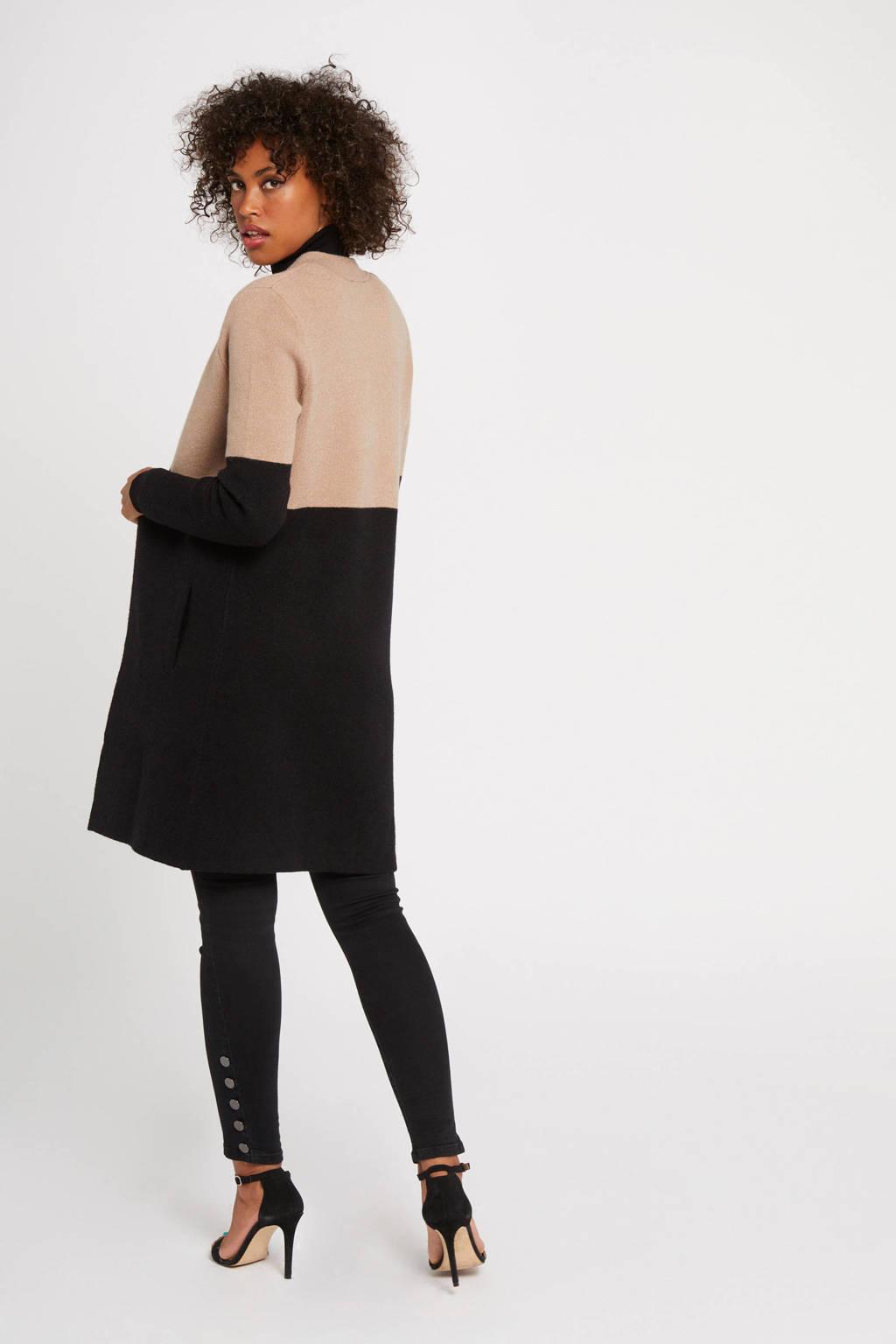 Morgan vest beige/ zwart