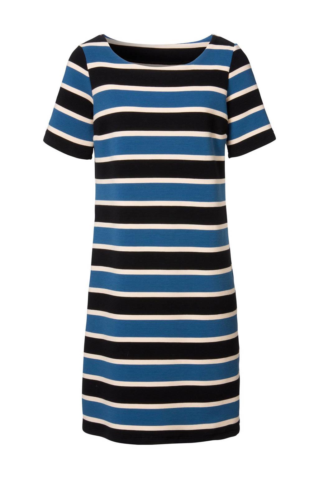 Didi A-lijn jurk, Zwart/blauw