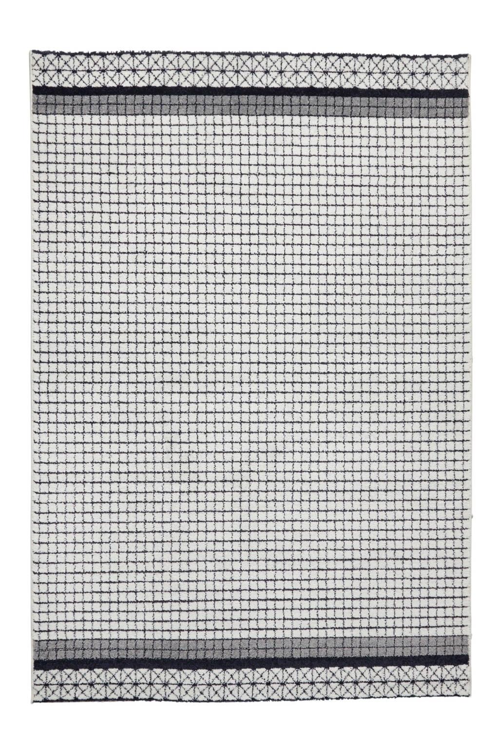 whkmp's own Vloerkleed  (230x160 cm), Donkerblauw/creme