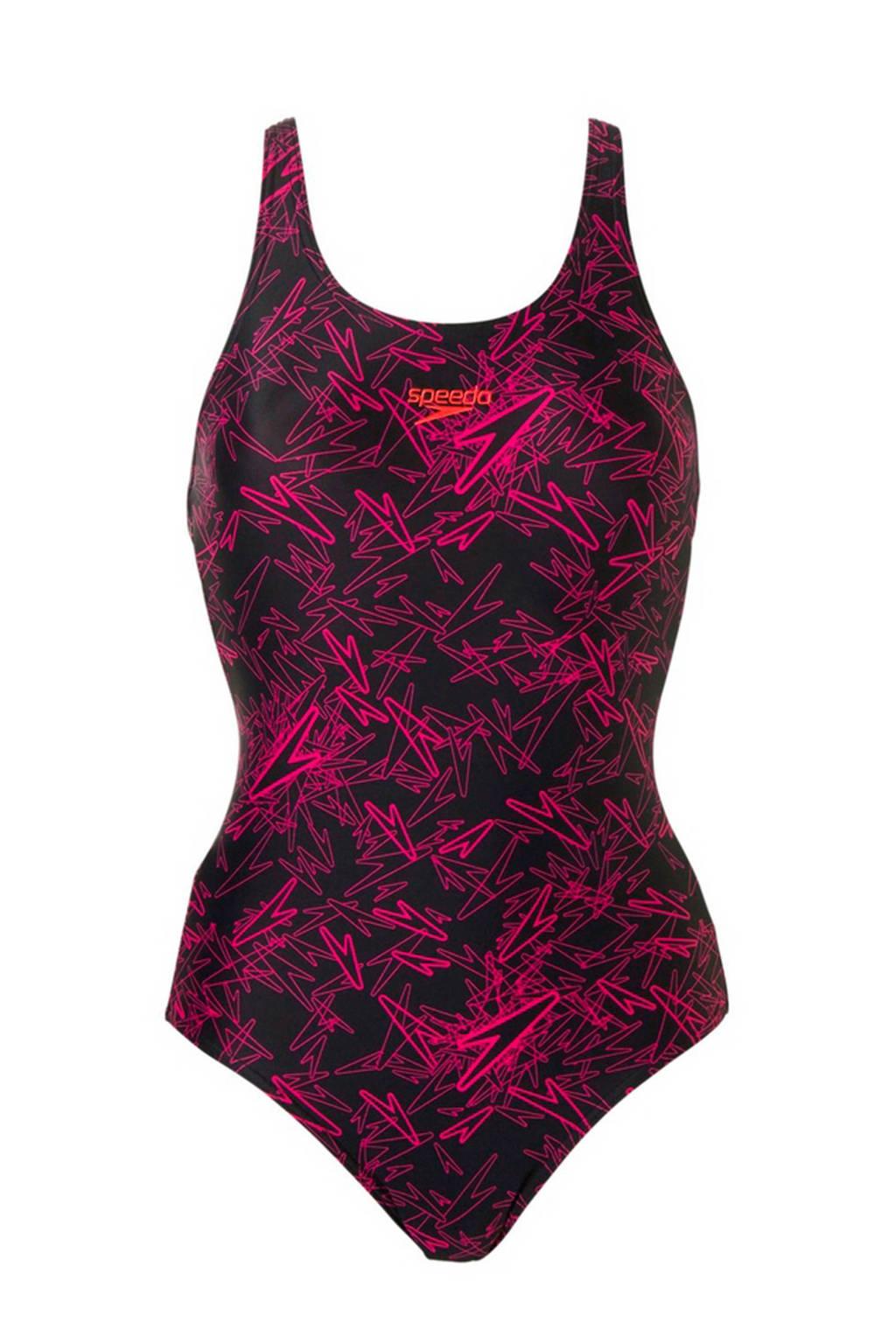 Speedo Endurance 10 sportbadpak, Zwart/roze