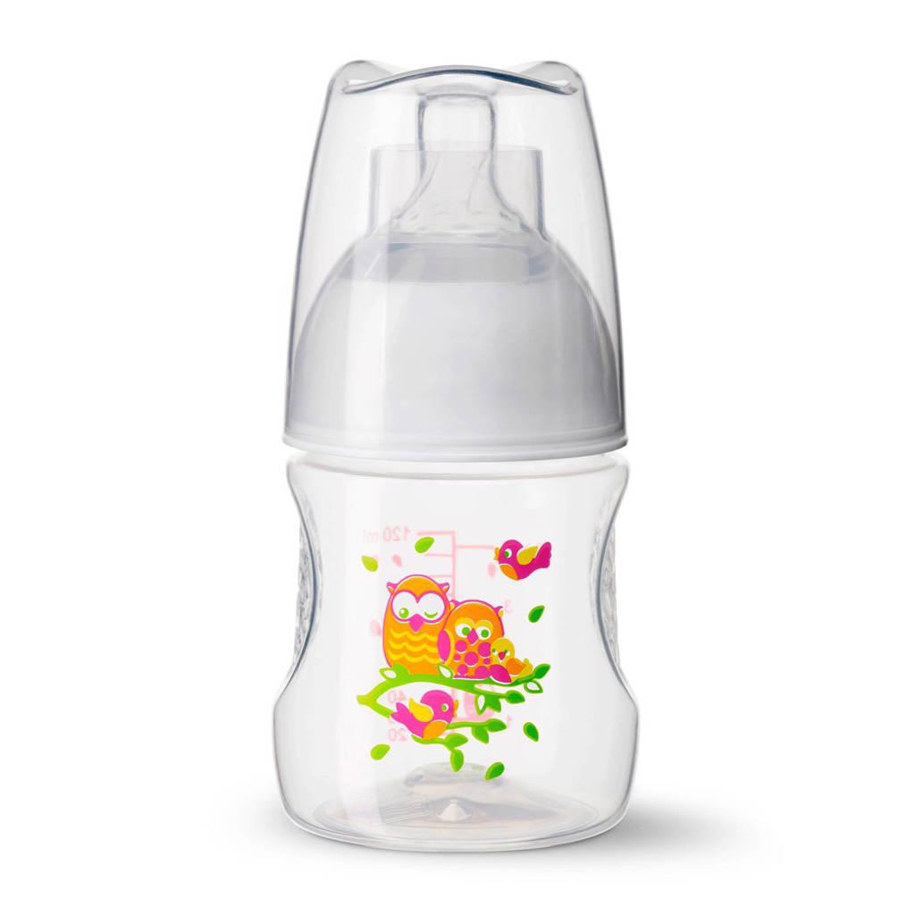 Bibi Happiness fles Play With Us 120 ml oranje/roze