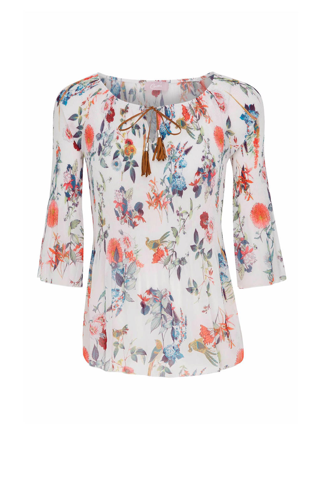 Cassis top, Wit/rood/blauw