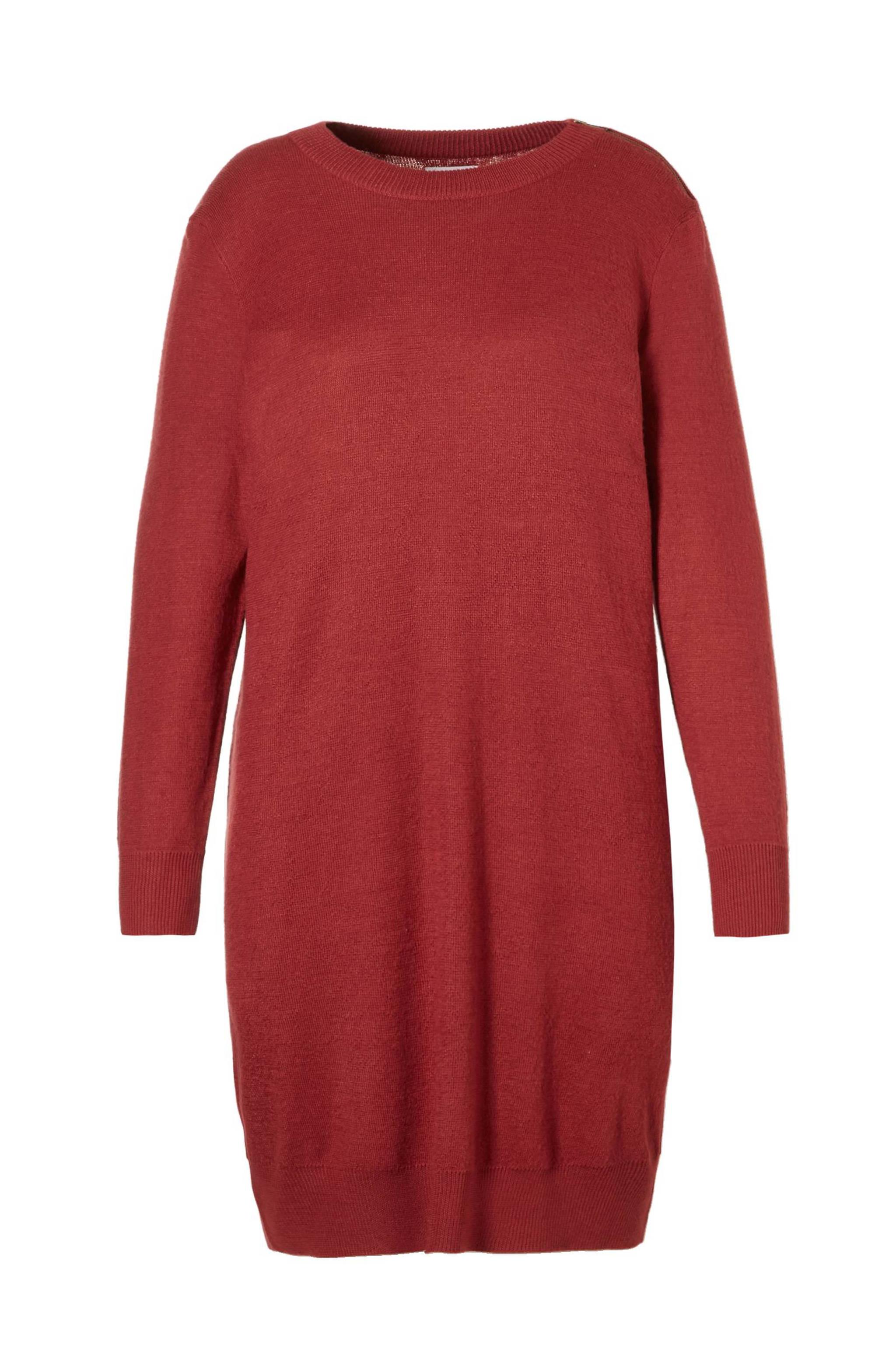 4127c5c7e2a077 Zizzi gebreide jurk met wol