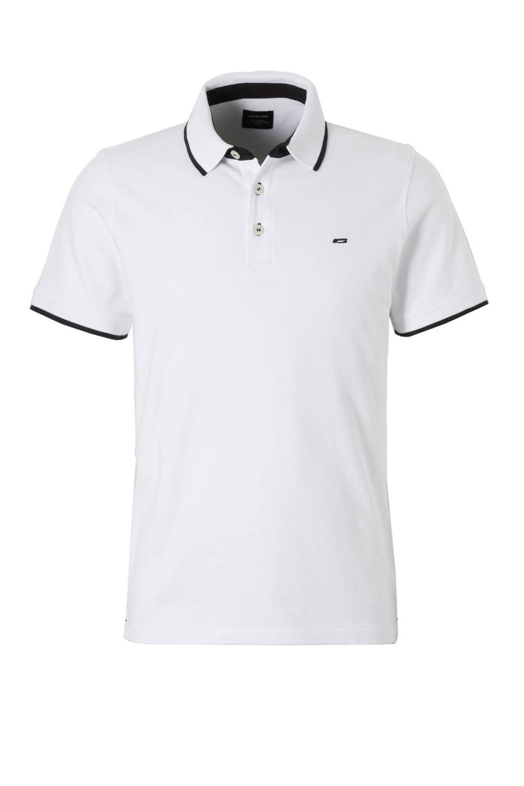 Jack & Jones Essentials Paulos slim fit polo, Wit