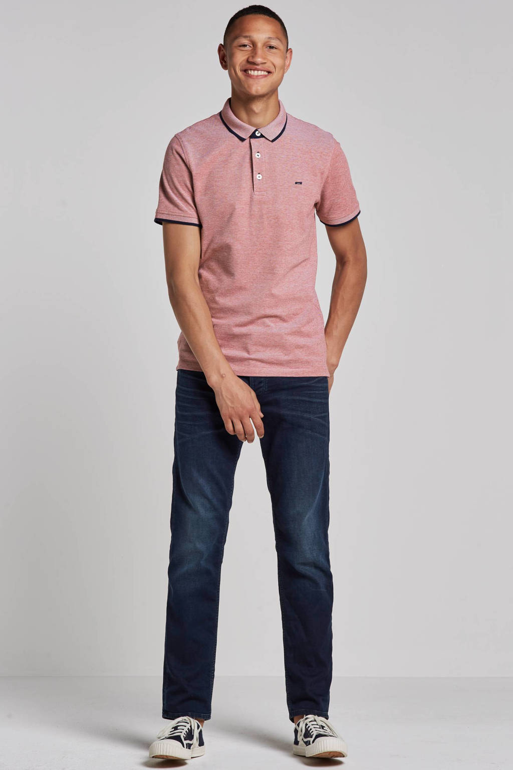 JACK & JONES ESSENTIALS Paulos slim fit polo, Rood