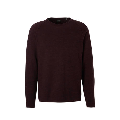 Jack & Jones Essentials trui Union aubergine