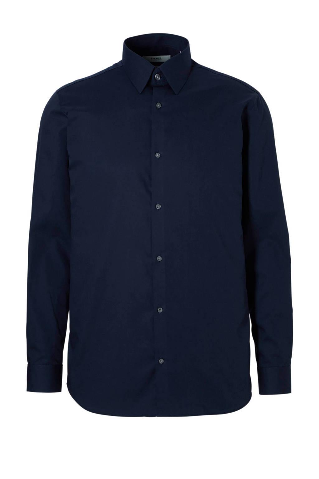 JACK & JONES PREMIUM slim fit overhemd, Donkerblauw