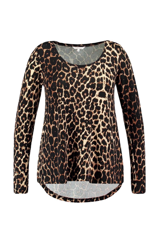 MS Mode longsleeve met luipaardprint (dames), Bruin