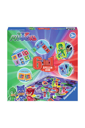 PJ Masks 6-in-1 spellendoos bordspel