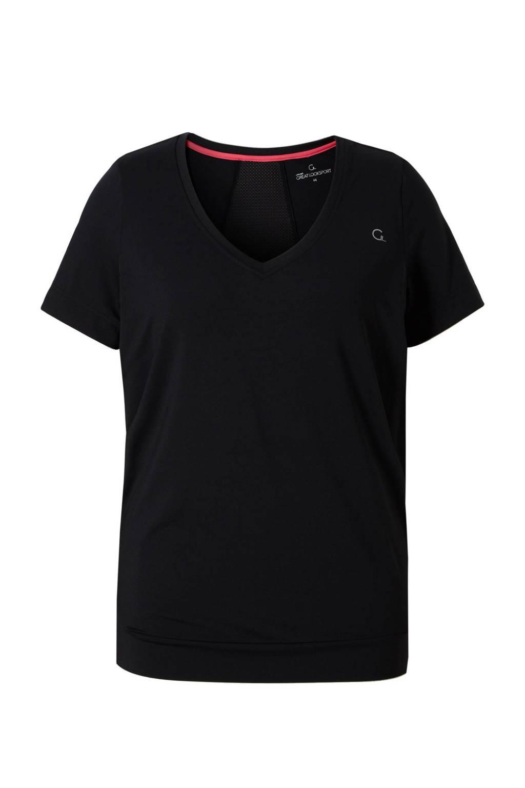 whkmp's great looks sport sport T-shirt, Zwart