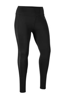 sport legging met glanzende zijstreep