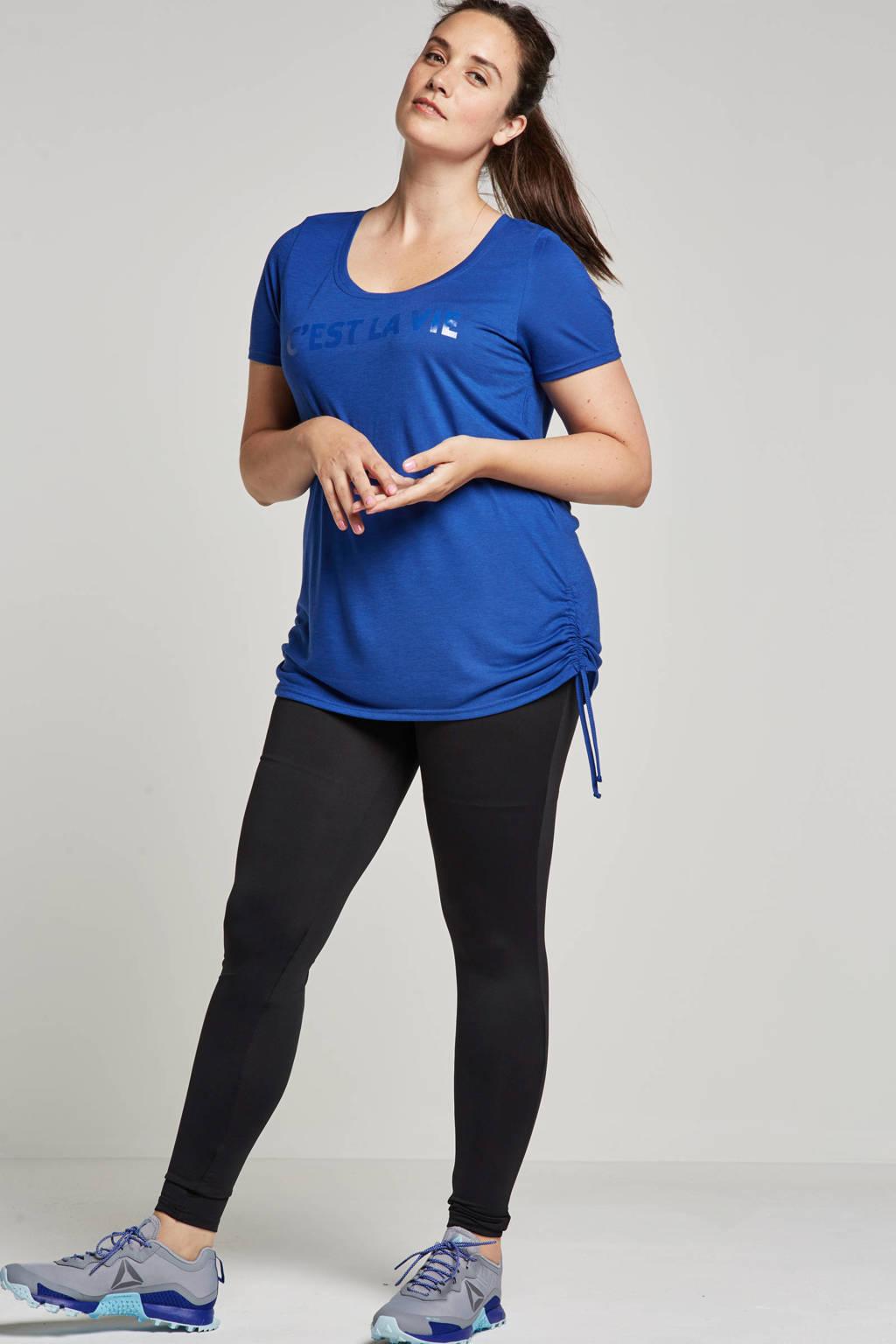 whkmp's great looks sport sport T-shirt met tekstopdruk, Blauw