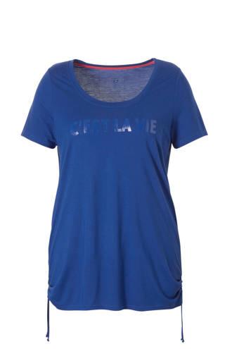 sport T-shirt met tekstopdruk