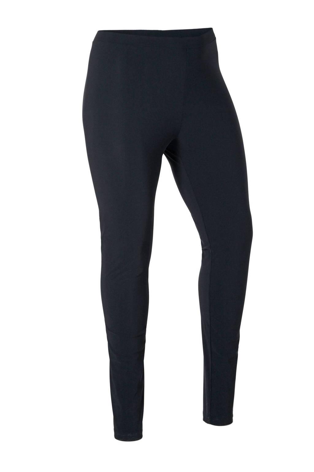 Plus Basics legging van travelstof zwart, Zwart