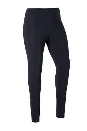 slim fit legging van travelstof zwart