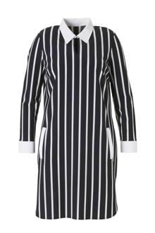 gestreepte jurk in travel kwaliteit