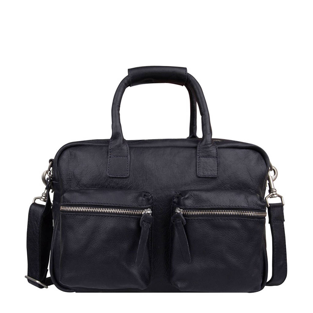 Cowboysbag   The Small Bag leren tas, 100 BLACK