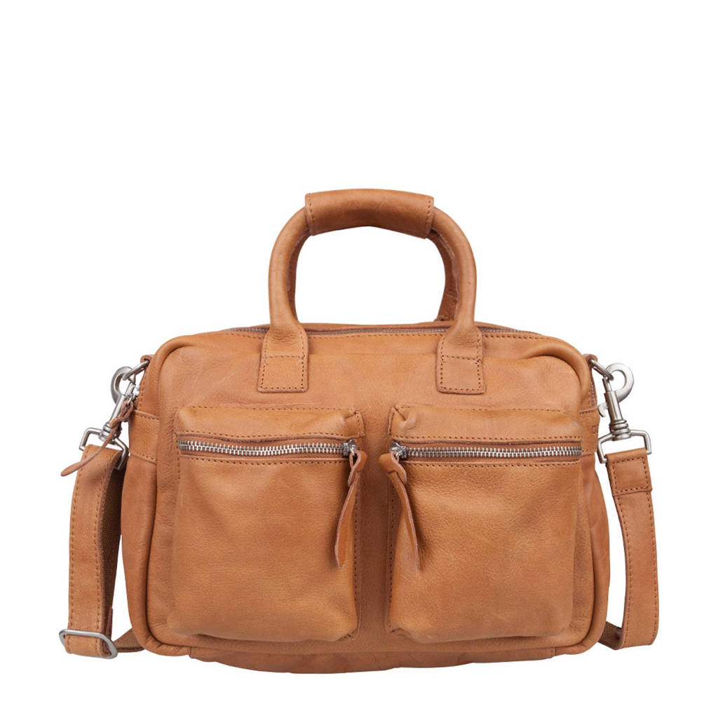 Cowboysbag   leren tas The Little Bag, 320 TOBACCO