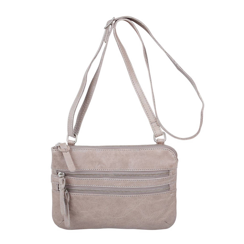 Cowboysbag   leren crossbody tas Tiverton, 135 ELEPHANT