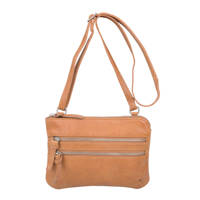 Cowboysbag   leren crossbody tas Tiverton, 320 TOBACCO