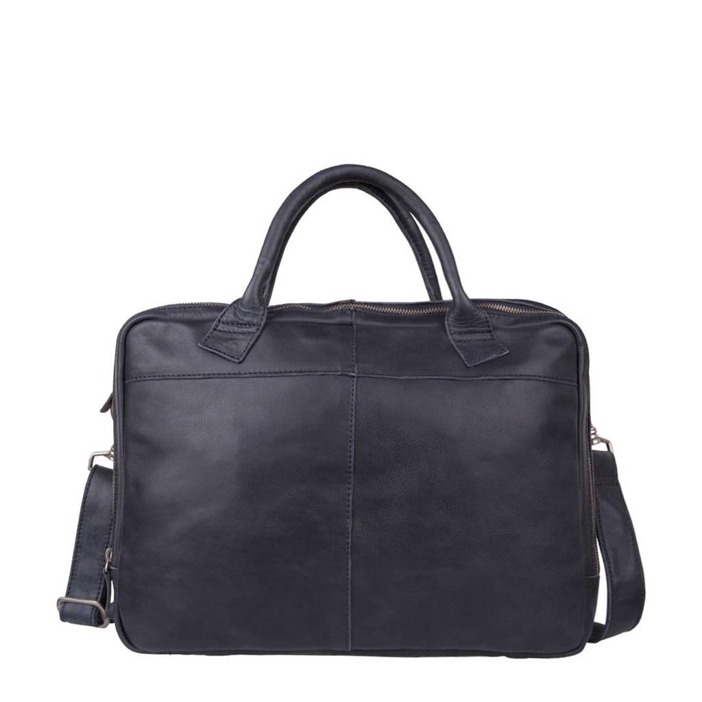 Cowboysbag 15,4 inch leren laptoptas Fairbanks, 800 BLUE