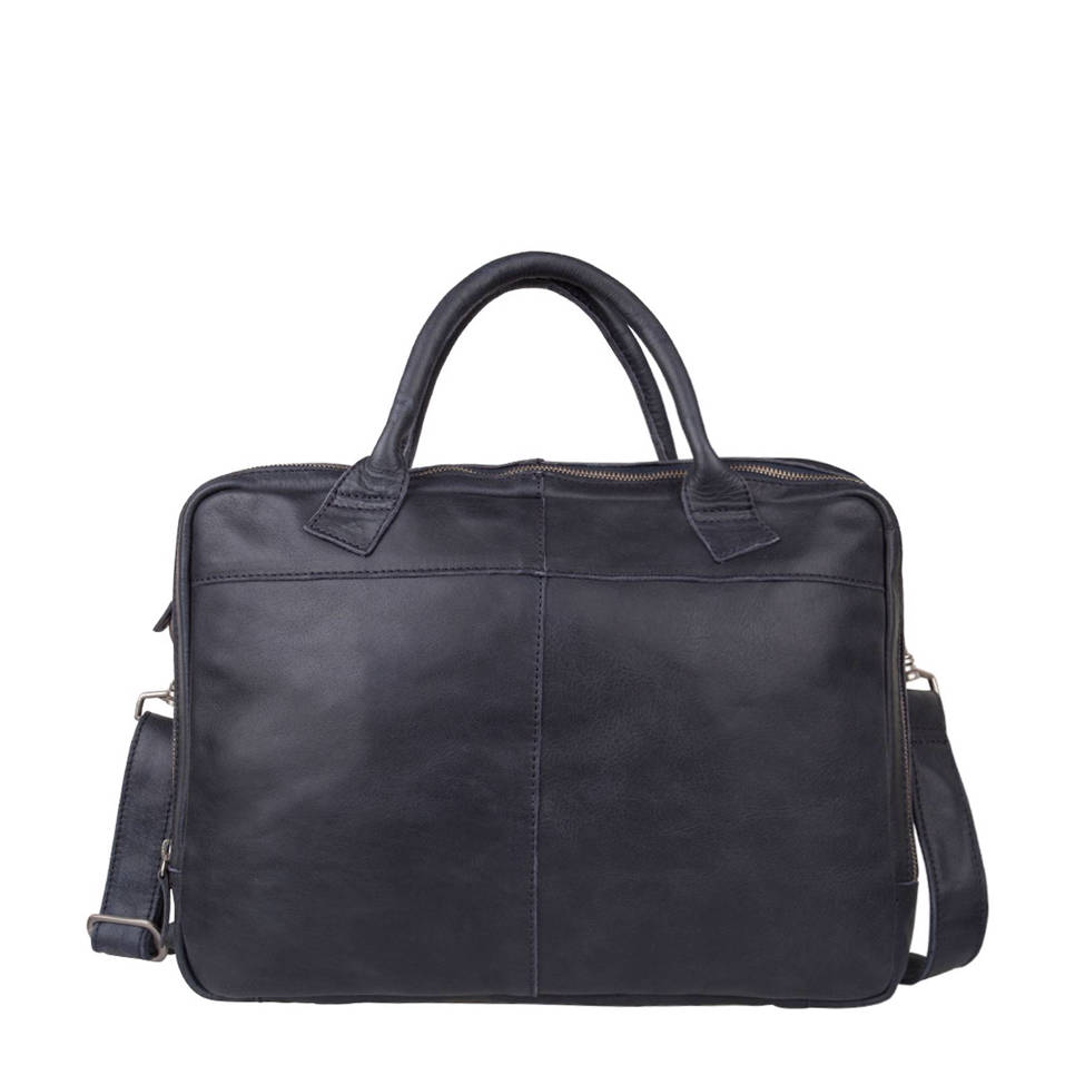 Cowboysbag 15,4 inch leren laptoptas Fairbanks, 800 BLUE