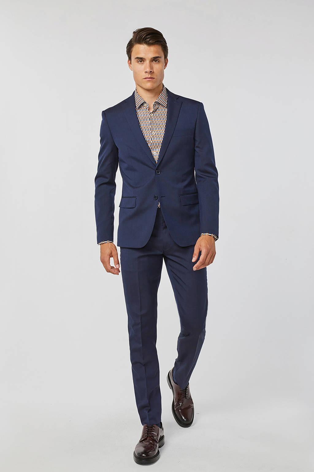 WE Fashion slim fit colbert, Donkerblauw