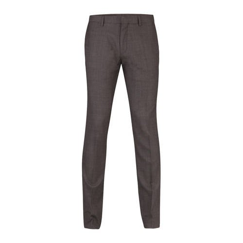 WE Fashion slim pantalon met wol