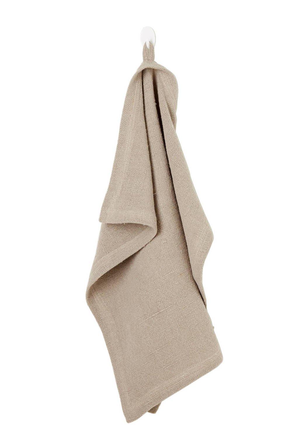 vtwonen theedoek (55x55 cm), Bruin