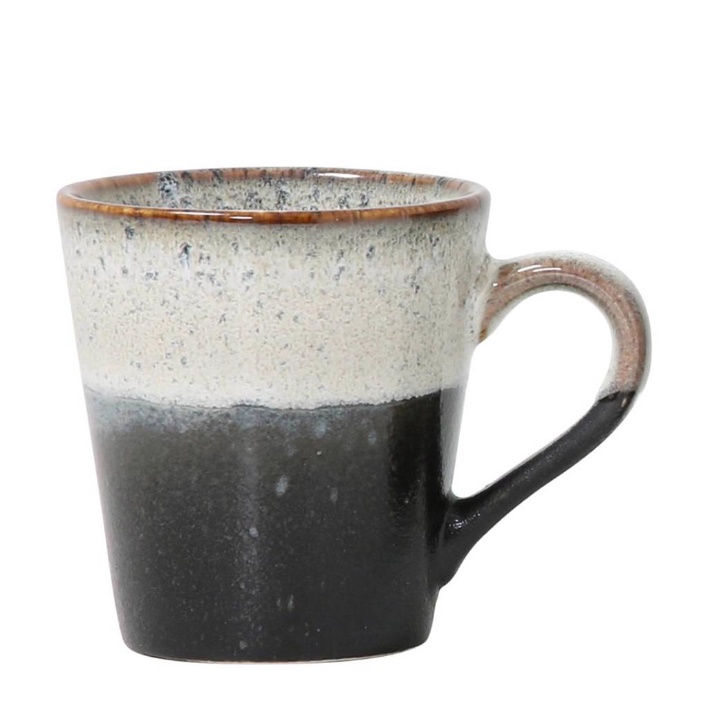 HKliving 70's espressokopje (Ø5,8 cm), Wit/zwart