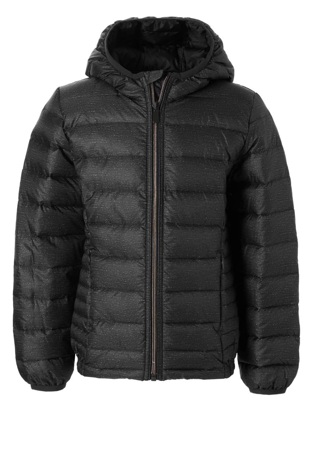 C&A Here & There gewatteerde winterjas, Zwart
