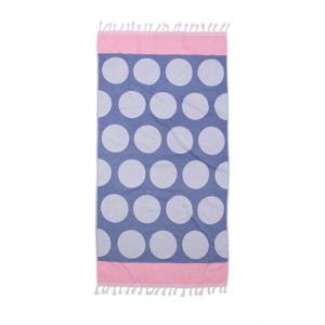 hamamdoek (90x180 cm) Blauw/Roze