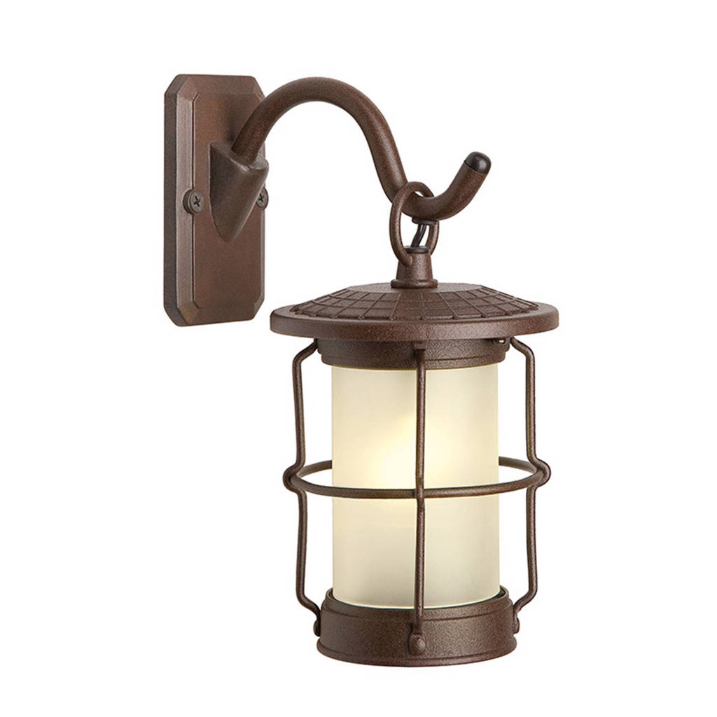 Garden Lights 12V wandlamp Callisto, Roestbruin
