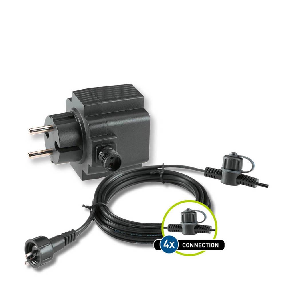 Garden Lights  12V basisset kabel + trafo (21 Watt), Zwart