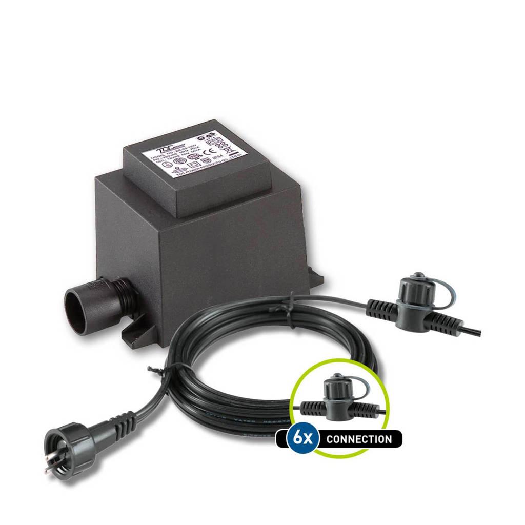 Garden Lights  12V basisset kabel + trafo (60 Watt), Zwart
