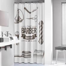 Barber douchegordijn 180x200cm