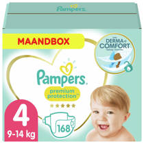 Pampers Premium Protection maandbox maat 4 (9-14 kg) 168 luiers